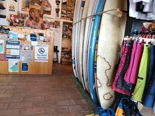 The Washout surf shop, home, surfboard, bike, car rentals & laundry service