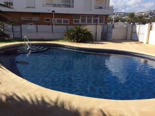2 bedroom Apartment in Moraira with pool. Sleeps up to 4, UK TV and parking.