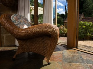 Bask in the sun whilst relaxing in comfort, the sound of running water and birds in the courtyard.
