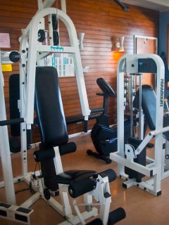Exercise equipment and more available at the Bayshore.
