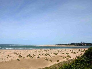 Eight miles of sandy beach.