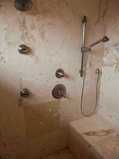 The ultimate shower experience in stone.