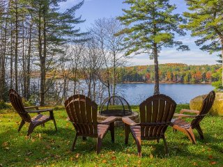 Lovely lakefront home w/ private dock, screened porch, firepit & gorgeous view!