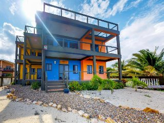 Gorgeous oceanfront home w/private beach right in Placencia Village