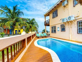 Oceanfront condo w/ easy beach access & pool in Belize!