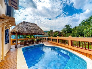 Oceanfront villa w/ pool, relaxing balcony & hammock! Beach is just steps away!