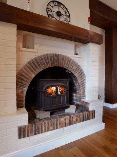 our pretty wood burner