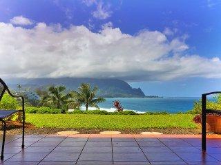 Unique 1BR Oceanfront Condo in Princeville w/Free Wifi & Direct Bali Hai Views