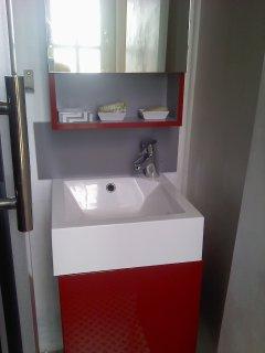 salle d'eau coin lavabo