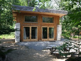 Strawbale cabin at Terra Perma