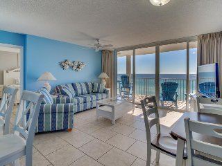Oceanfront condo features easy beach access & shared pools & hot tub!