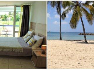 Beau studio refait à neuf, vue mer, accès direct plage