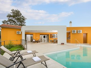 Lovely modern villa Tartufo with pool and sauna near Pula, 6+2