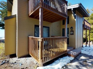 Alpine townhome w/ shared hot tub & pool plus ski-in & adventure access!