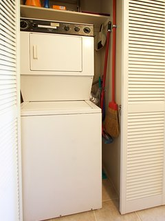 Stack-able Washer and Dryer within Condo Unit