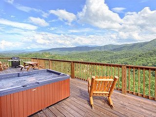 Deck with Hot Tub at Southern Sunrise