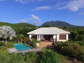 Private Nevis Villa with Stunning Views of St Kitts and the Caribbean Sea