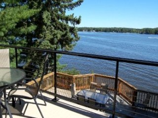 View of Lake Delton from main level deck