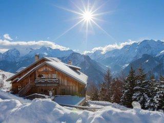 Alpe d'Huez ski - Chalet 8 p, piscine sauna jacuzzi, vue splendide, terrasse Sud