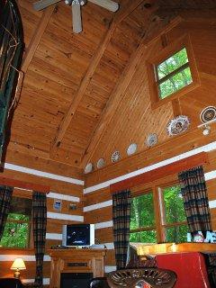 High beamed ceilings