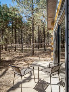 The private patio off the master for your views of the Coconino National Forest!