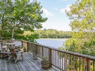 Lakeside 3BR in Scenic Mashpee Setting w/ Fireplace & Wraparound Deck