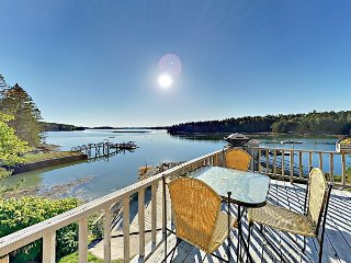 Boothbay Harbor Retreat w/ Wraparound Deck & Stunning Waterfront Views