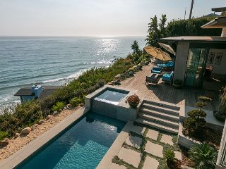3425SLL95BR Oceanside Estate w/ Saltwater Pool, Fireplaces, & Private Beach