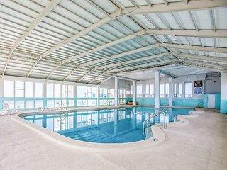 Comfortable Beachfront Studio w/ Indoor Pool