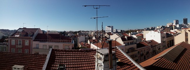 Back view over the rooftops