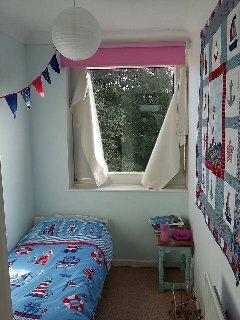 Second floor child room with junior bed.