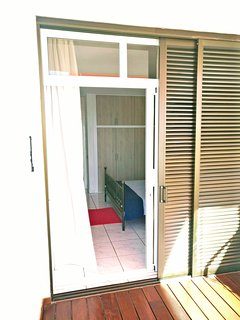 Bedroom access to Deck