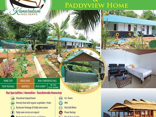 Kumarakom Holidays.  A Backwater Frontage & Paddyview Homestay