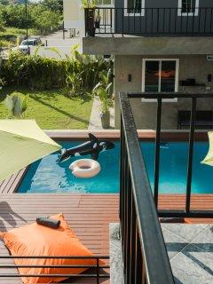 S1 and L villa balcony view.