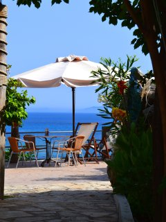 A view from the tavern above Spartia beach