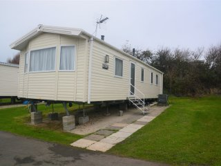 Six berth prestige caravan at Littlesea Holiday Park