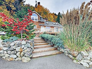 Waterfront 3BR Home on Camano Island - Steps to Beautiful Tyee Beach