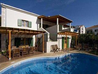 Luxury Villa Yellow Pharos with pool near the sea on island of Hvar