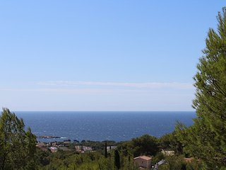 Vue mer magnifique avec terrasse et Verdure