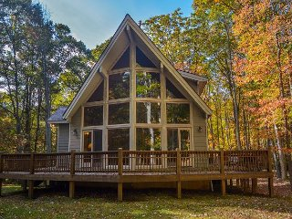 Chalet in a wooded setting, walking distance to the lake!