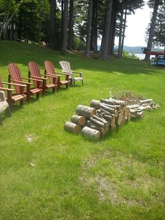Seating around the fire pit
