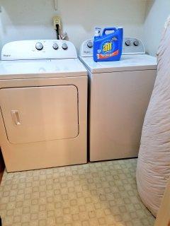 Laundry facilities: washing machine & dryer