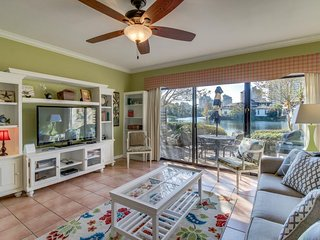 Dog-friendly, beachside home with shared pool - close to golf, beach, and town