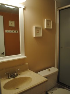 The 2nd bathroom recently renovated, just outside the 2nd Guest BR