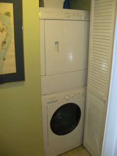 A stack washer/dryer for your convenience