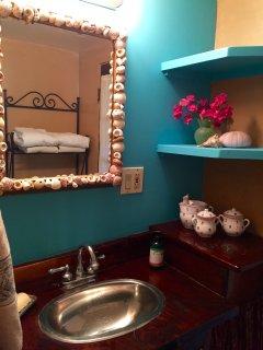 Small bathroom sink area