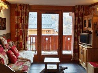 Appartement equipee 2 pieces 4 pers proche piste de ski avec vue exceptionnelle