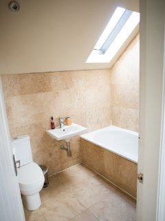 Shippon Main Bathroom with overhead shower