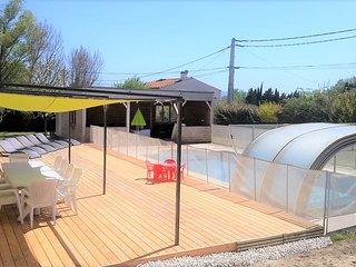 20km Carcassonne: Piscine chauffée et jacuzzi pour cette belle villa 2/13pers