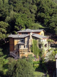 A view of the house from across the canyon.